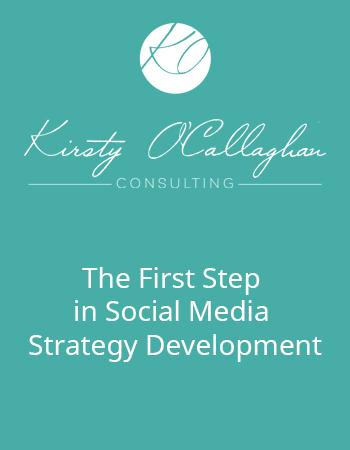 The first step in social media strategy development