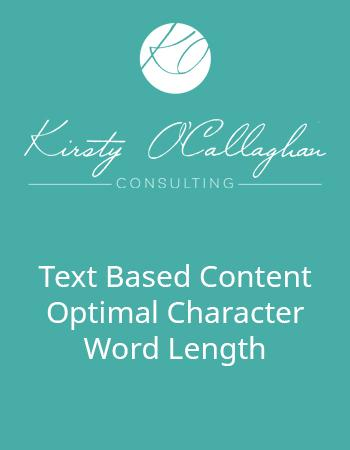 Text Based Content Optimal Character Word Length